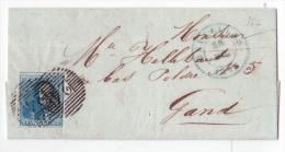 L. affr. N�2 (3 belles marges) P24 BRUXELLES/30/JUIL/1849. Premier mois d'utilisation de l'Epaulette