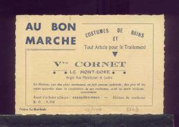 5823 - BRADERIE TOUT A 1 EURO - CARTE VISITE AU BON %MARCHE - MONT DORE - Vieux Papiers