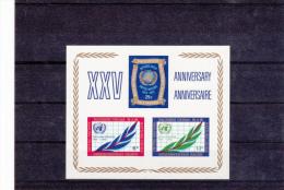 United Nations New York Minisheet: 1970 25 Years Of The Organization  UM/MNH (G34-2) - New York – UN Headquarters