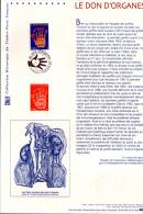 2004 - DOCUMENT OFFICIEL - LE DON D'ORGANES - Documentos Del Correo