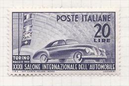 Italie Italia 1950  Yvert 555*  Sass 617 (Yvert Ainsi 6 Euro) - 1946-60: Nuevos