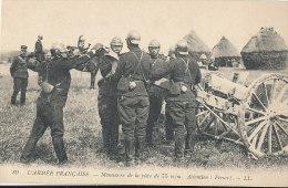 N N 221 / C P A  - L'ARMEE FRANCAISE  MANOEUVRE DE LA PIECE DE 75 M M ATTENTION FERME!    - - Equipment