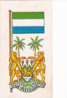 Brooke Bond Tea Trade Card Flags &amp  Emblems No 12 Sierra Leone - Tea & Coffee Manufacturers