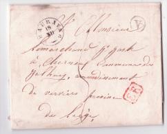 L. T18 BEAURAING /1841 + Boîte V De Déolémont Pour Liège - 1830-1849 (Belgique Indépendante)