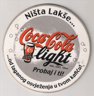 COCA COLA Light  From Serbia - Coasters