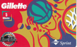 USA - 1995 NCAA Final Four Seattle, Gillette, Sprint Promotion Prepaid Card, Exp.date 30/09/95, Used - United States