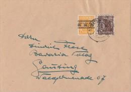 Bizone Brief Mif Minr.45I, 41II Gauting 25.8.48 - Bizone