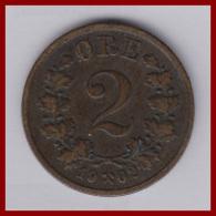 NORWEGEN 2 Øre 1902 - Norwegen