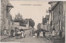 LE GRAND ROZOY : Rue De L'Eglise - Très Belle Carte ! - Sonstige Gemeinden