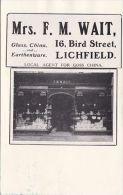 LICHFIELD -MRS F.M. WAIT SAHOP FRONT. PHONEY CARD - Non Classés