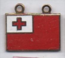 Beau Pin´s En EGF , Drapeau Avec Croix Rouge - Villes