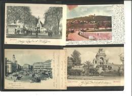 España. 8 Postales Con Sellos De Alfonso XIII Cadete - Barcelona