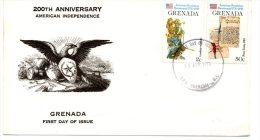 GRENADE. N°669 + 671 Sur Enveloppe 1er Jour (FDC)  De 1976. Indépendance Des U.S.A. - Unabhängigkeit USA