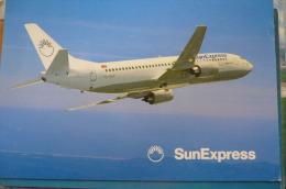 SUN EXPRESS   B 737 300           AIRLINE ISSUE / CARTE COMPAGNIE - 1946-....: Era Moderna