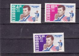 Ecuador: John F Kennedy - Set Of Three  UM/MNH (G34-4) - Féroé (Iles)