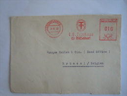 Germany Duitsland Allemagne EMA 1950 C. G. Trinkaus Dusseldorf Op Fragment - [7] République Fédérale