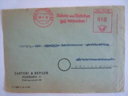 Germany Duitsland Allemagne EMA 1950 Pakete Und Päckchen Gut Verpacken Sartori & Berger Hamburg 11 Op Fragment - [7] Federal Republic