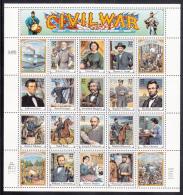USA MNH Scott #2975 Sheet Of 20 Different 32c American Civil War - Histoire