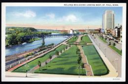 Saint Paul St Paul - Kellogg Boulevard Looking West - Written Card - St Paul