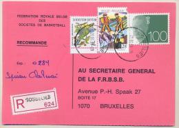 _1p470:RECOMMANDE- Postkaart: GOSSELIES ... 1 Zegel Is Beschadigd... - Bélgica