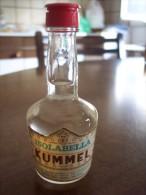 Kummel Isolabella: Bottiglia Mignon Tappo Plastica. Stab. Milano (liquore) - Spirits