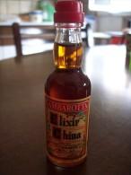 Elixir China Liquore: Bottiglia Mignon Tappo Plastica GBG Gambarotta Inga & C. Spa Serravalle Scrivia Alessandria - Spirits