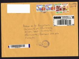 2013  Lettre Recommandée  Pour Le Canada   Champion De Tennis Sur Table, Champignons - Burundi