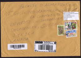 2013  Lettre  Recommandée  Pour Le Canada,  Serpent, éducation, Fleurs - Ouganda (1962-...)
