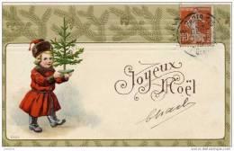 ENFANTS-Gauffrée ,relief,embossed-Noel - Non Classificati