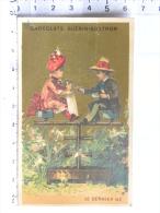 Chromo Chocolats GUERIN BOUTRON, Le Dernier Né (enfant Poupée Balançoire) - Guerin Boutron