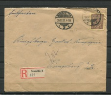 Germany 1922 Register Cover To Koninsberg - Germany