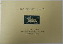 1937 Daposta Freie+stadt+Dabnzïg 50 P 1 Danziger Landespostwertzeichen Ausstellung Non Oblitété  Voir Scan Dos - Germany