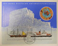 1826-1909 Georg Von Neumayer 100 Jahre Deutsche Antarktisforschung Bon état Oblitétée  Voir Scan Dos - Polar Philately