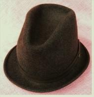 Bourrel Freres  Herren-Hut  ,  Chine Brutiss Impermeaple  ,  Aus Wolle  ,  Größe 55 Cm - Dunkelbraun - He