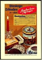 Reklame Werbeanzeige  Haeberlein-Metzger  -  Nürnberger Lebkuchen  , Von 1968 - Andere Sammlungen