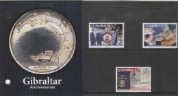 Gibraltar 2005 Set/3 Anniversaries - Police, Museum -prehistoric  #1018-20 Pres. Pack - Gibraltar