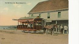 Block Island The Old Horse Car Tramway Tram Edit H. Seddon Rhode Island Attelage Cheval - Etats-Unis