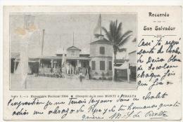 San Salvador   Recuerdo Exposicion Nacional 1904 No 2 Obsequio Monti Y Peralta P. Used 1905 - Salvador