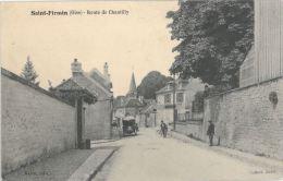 SAINT FIRMIN - 60 - Route De Chantilly (CPA Animée) - France