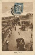 Bengasi Una Via  Timbrée Bengasi 1929 Ed. G. Genovese Emporio Prezzi Fissi Auto Moto - Libye