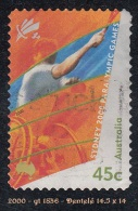 2000 - Oceanie - Timbre D' Australie - J.O. De Sydney - 45 C. Tennis - - Sommer 2000: Sydney - Paralympics