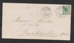 D.R.Nr.46 Auf Trauerbrief,gefaltet  (3510) - Allemagne