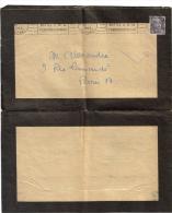 Pli  Affranchissement Gandon 5 F KRAG PARIS TRI   Communisme Régime  Staline - Vieux Papiers