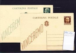 Italien Michel Cat.No. Postal Stat Unused 100/101 - Interi Postali
