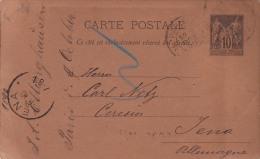 00413 Carta Postal París A Tena 1890 - Enteros Postales