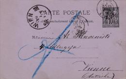 00414 Carta Postal Viena 1885 - Enteros Postales