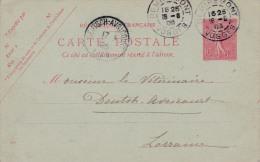 00415 Carta Postal Remiremont-Vosges A Larranie 1906 - Enteros Postales
