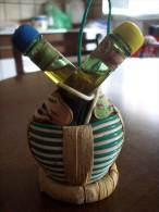 Lacrima Christi + Vin Santo: Bottiglia Doppia Fiasca Con Paglia Mignon Tappo Plastica. R Giunti & Figli Poggibonsi Siena - Alcoolici
