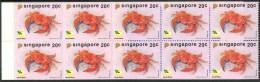1992 Singapore Fauna Marina Marine Granchi Crabs Crabes Booklet -L76 Excellent Quality - Crostacei