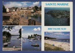 29 COMBRIT STE-MARINE Port à L'estuaire De L'Odet Et La Plage ; Casiers, Voiliers, Yachts 5 Vues - Animée - Combrit Ste-Marine